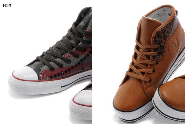 chaussure converse cuir blanc