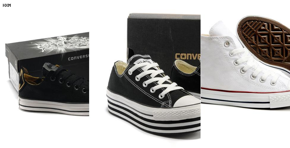 converse cuir basse homme