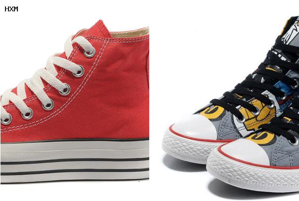 converse ecossaise rouge